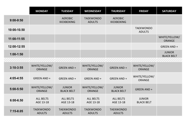 Martial-Arts-Winchester-TDF-Class-Schedule-2020